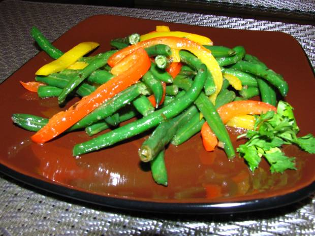 Italian Green Beans and Peppers