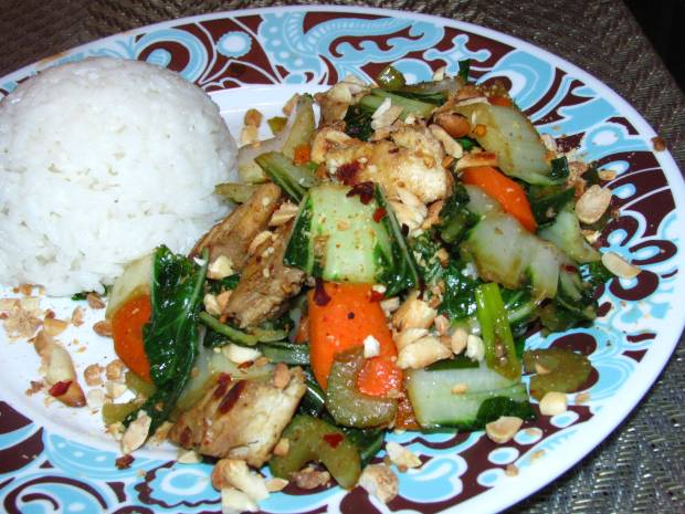 Bok Choy Chinese Stir Fry and Quorn Chik'n