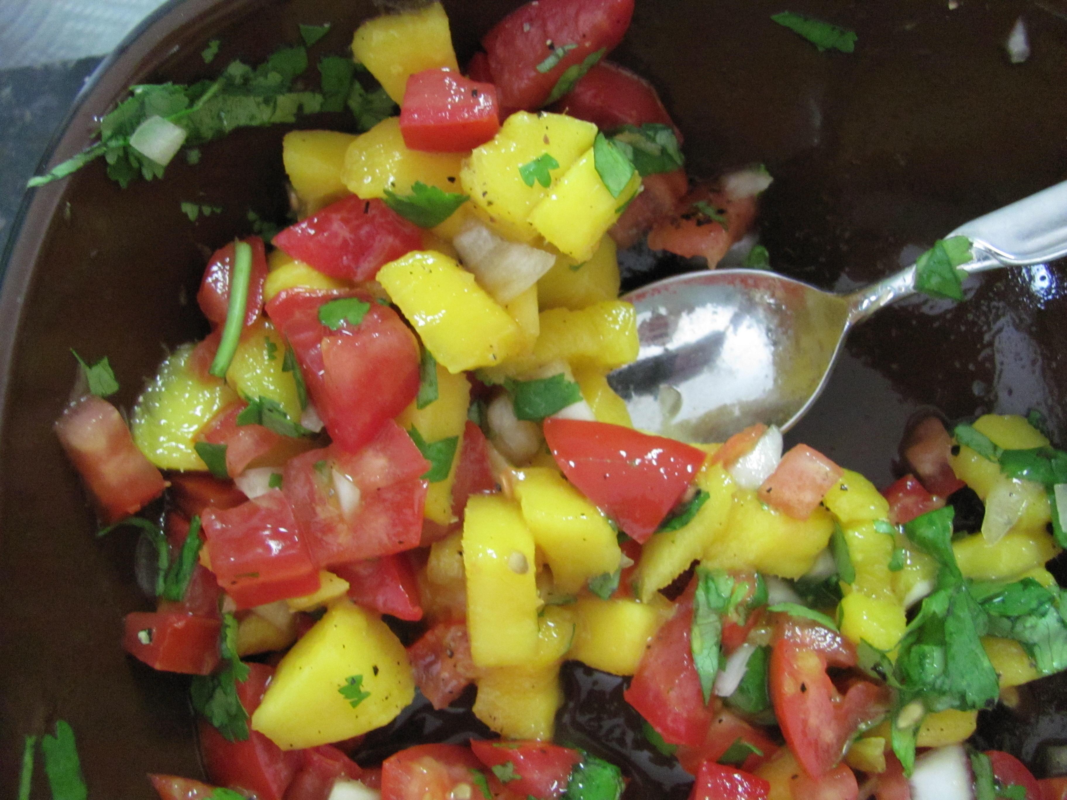 Chunky Mango Cilantro Salsa | Veggie Diva's Kitchen