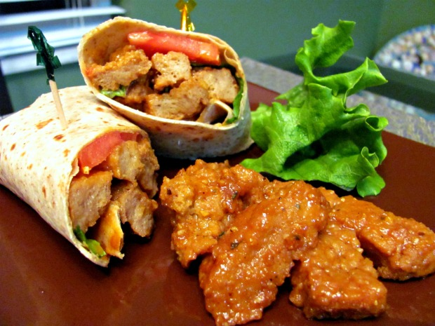 Barbecue Seitan Wraps