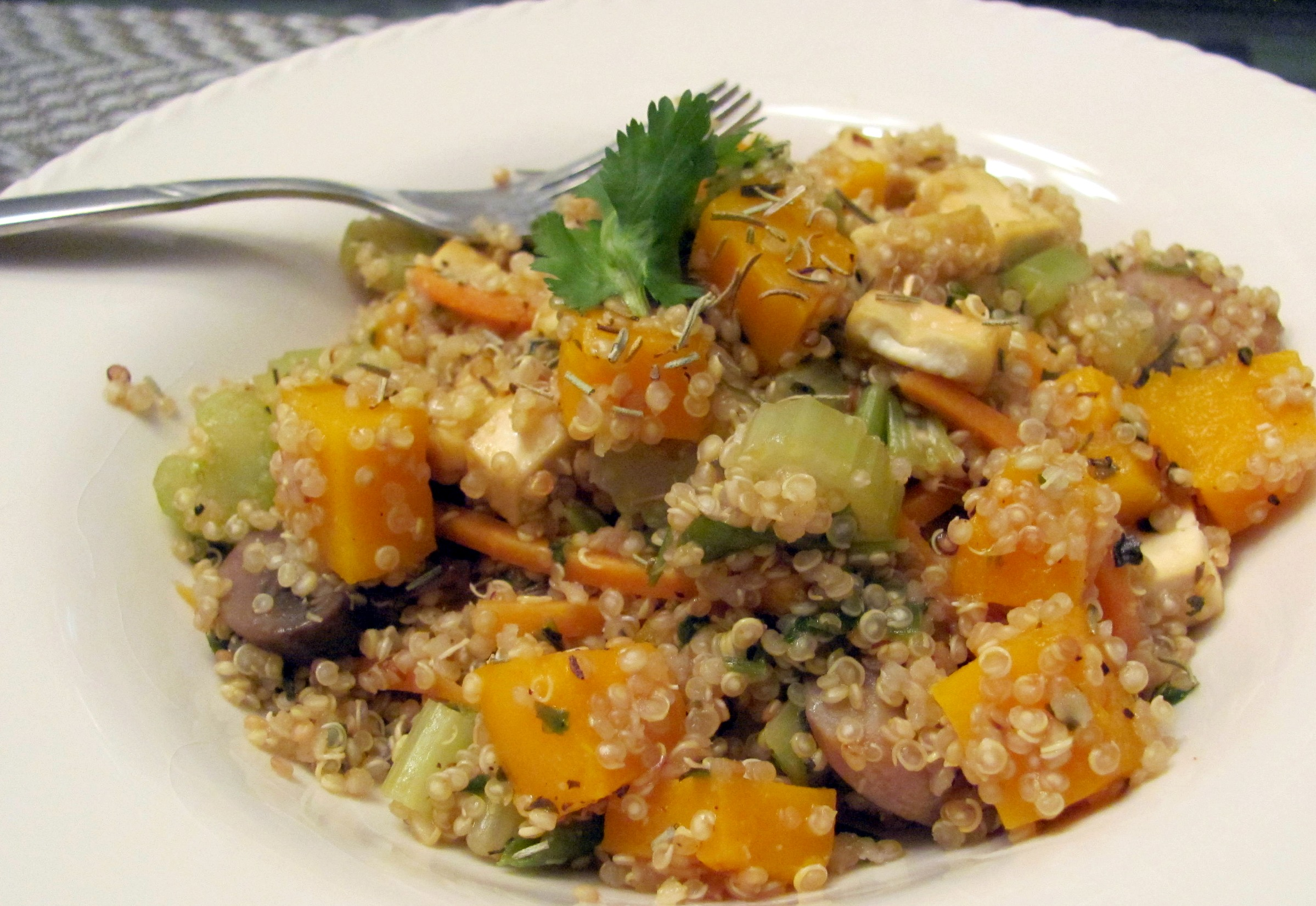 Butternut Squash and Tofu Quinoa Pilaf | Veggie Diva's Kitchen