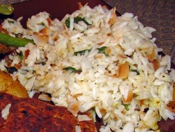 coconut basil rice
