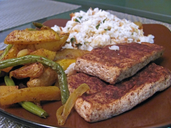 curried tofu and veggies