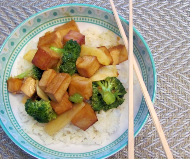 Ginger Garlic Tofu and Broccoli