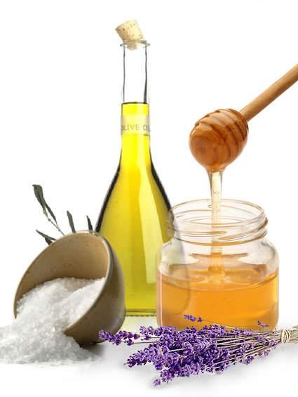 honey oil salt lavender