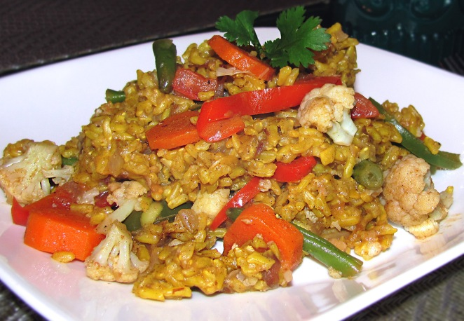 Indian Vegetable Biryani with Brown RIce