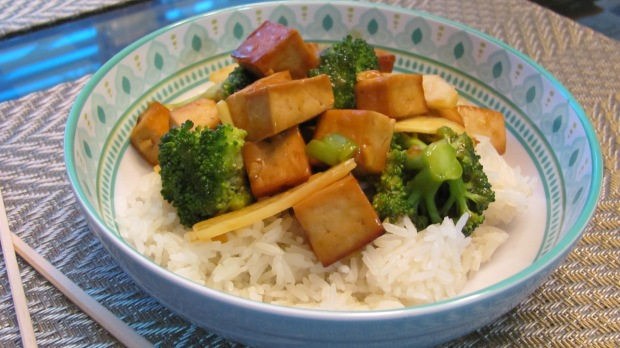 Ginger Garlic Tofu