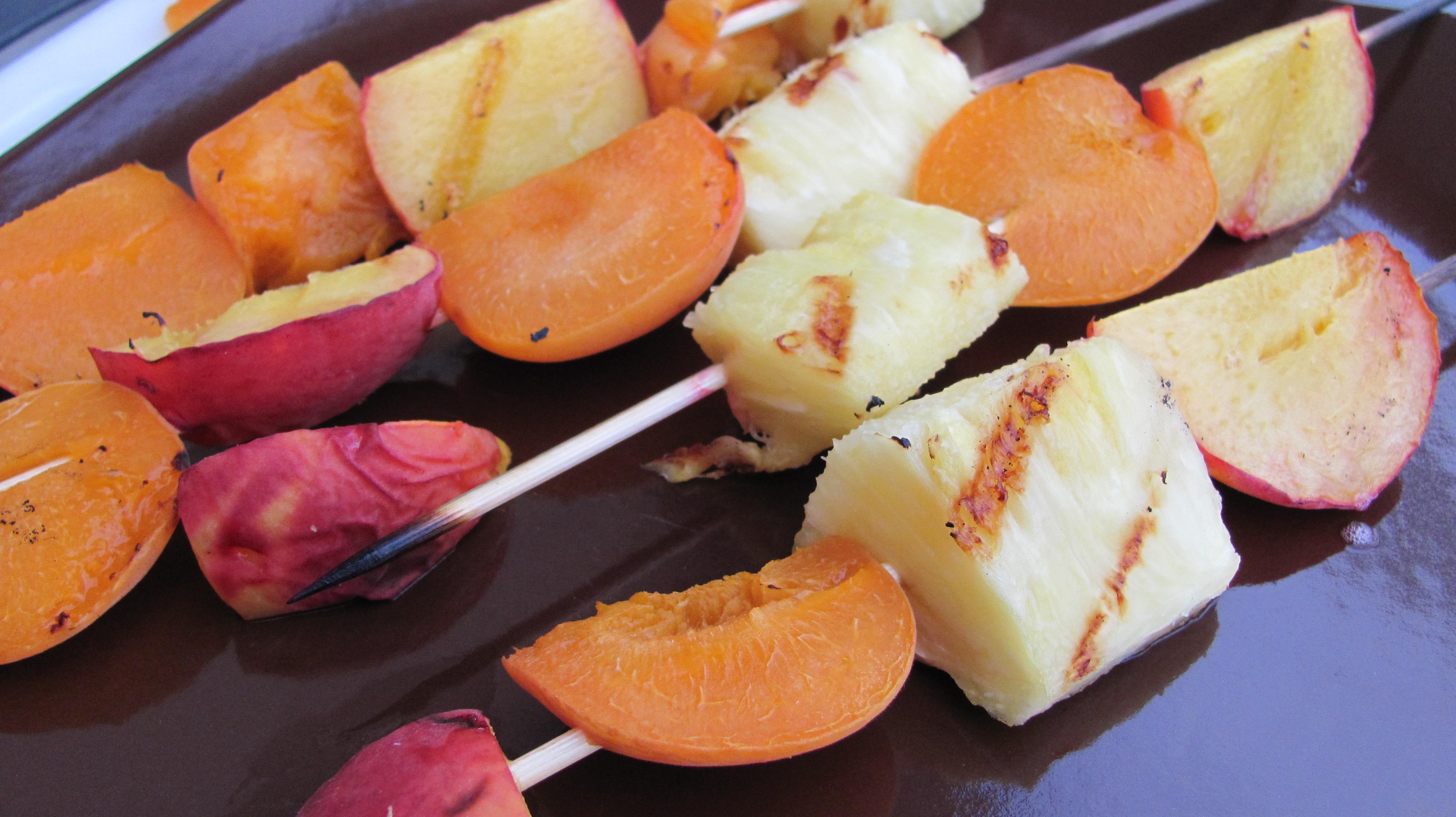Grilled Fruit Kabobs and Lavender Vanilla Ice Cream | Veggie Diva's ...