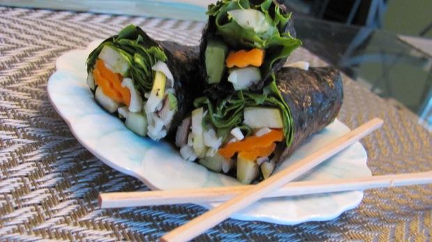 Vegetarian Sushi Nori Wraps