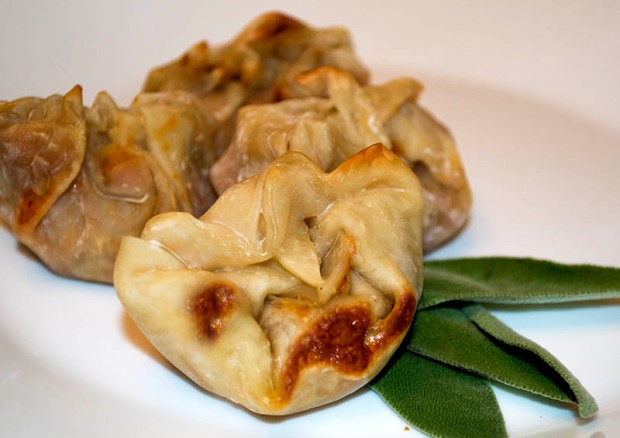sweet potato and sage pot stickers