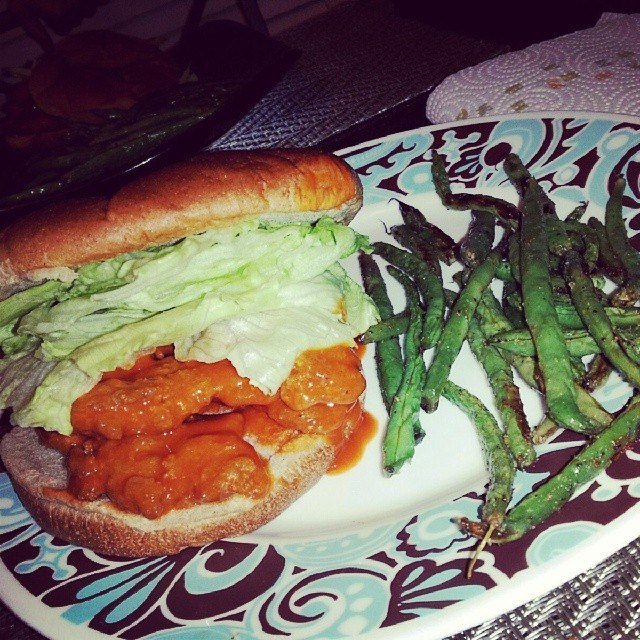 vegan vegetarian buffalo chicken sandwich